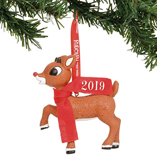 Department 56 Rudolph The Red-Nosed Reindeer 2019 Dated Hanging Ornament, 3.25