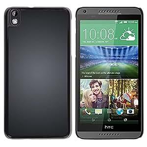 TopCaseStore / la caja del caucho duro de la cubierta de protección de la piel - Grey Brushed Black White Minimalist - HTC DESIRE 816