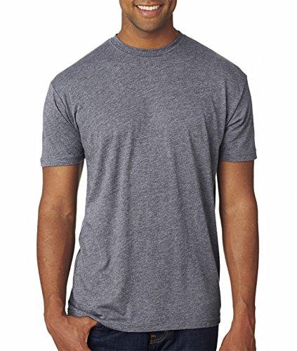 Next Level 6010 Men's Tri-Blend Crew Tee-Premium Heather, - Blend T-shirt Tri