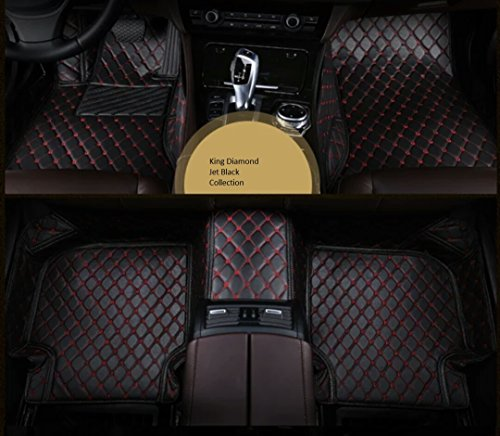 Spartan Autotec Mercedes GLE 4 Doors SUV All weather Custom Made FloorLiners Front & Back Seats 3pcs (GLE SUV, Jet Black)