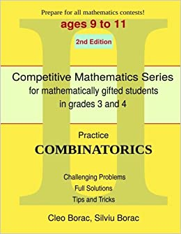 Book Practice Combinatorics: Level 2 (ages 9 to 11): Volume 8 (Competitive Mathematics for Gifted Students)