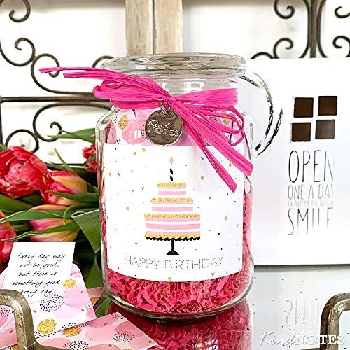 KindNotes Glass Keepsake Gift Jar with 31 Inspirational Messages