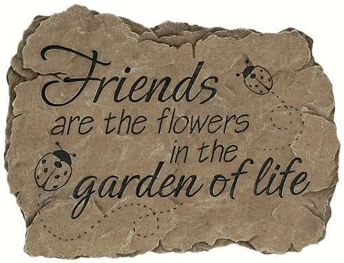 Friend Garden Stone - Carson Garden Stepping Stone