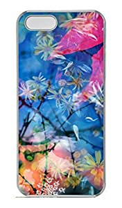 iPhone 5S Case, iPhone 5 Cover, iPhone 5S Beautiful Flower 2 Hard Clear Cases