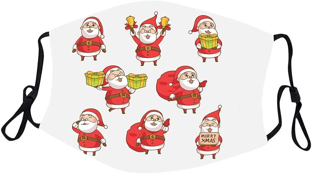 Geilisungren unisex Panno multifunzionale natalizio Tessuto di cotone riutilizzabile lavabile Copertura per e Coprire la bandana traspirante