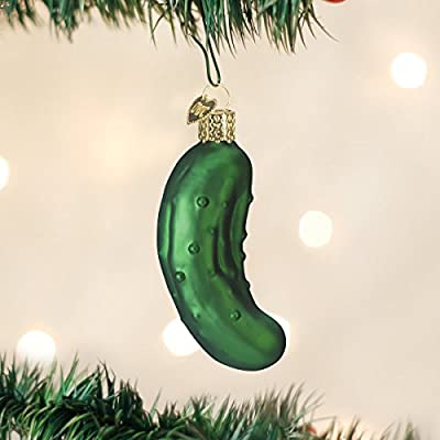 Old World Christmas Ornaments: Sweet Pickle Glass Blown Ornaments for Christmas Tree