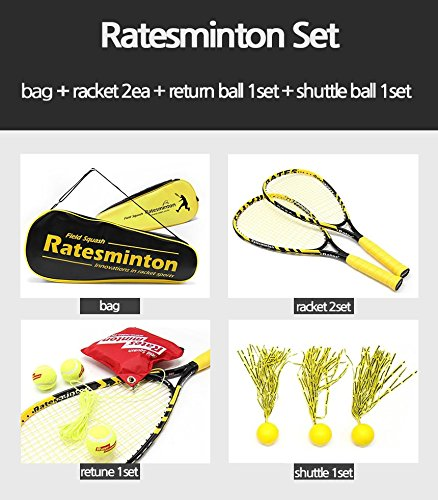DNDmall Ratesminton Squash Starter Set ( Sports Outdoor RACQUETBALL TENNIS SQUASH BADMINTON This Equipment allows you to Exercise alone or with your Friend Sports Training Equipment) by DNDmall (Image #2)