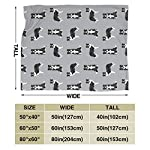 """SteCury Throw Blanket, Luxury Cozy Fleece Blanket, Warm Super Soft Comfort Caring 60"""" x 80"""", Border Collie Dog Breed Pet Lovers Sewing Projects Grey 7"""