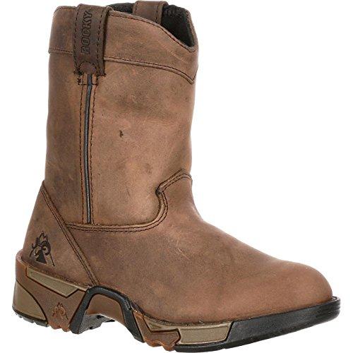 Rocky Unisex FQ0003638 Mid Calf Boot, Brown, 5.5 M US Big Kid