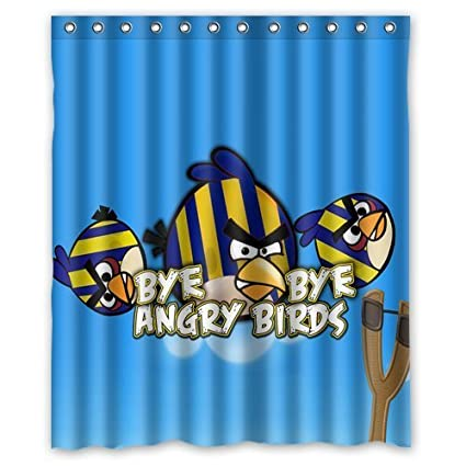 Image Unavailable Not Available For Color Aloundi Custom Best Angry Birds Shower Curtain