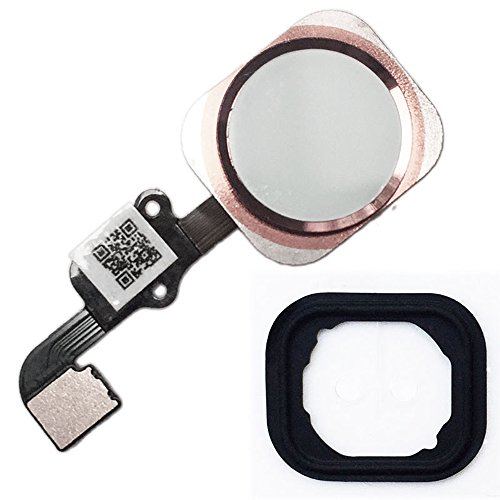 Home Button Key with Flex Cable and Rubber Ring Replacement Part for iPhone 6s and 6s Plus (Rose Gold)
