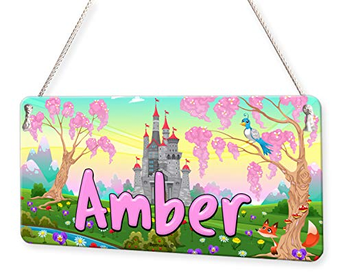 (Fairytale Castle Personalised Childs Bedroom Door Sign Name Plaque )
