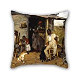 Alphadecor Oil Painting Richard Norris Brooke - A Dog Swap Pillow Cases Best For Her Deck Chair Coffee House Floor Kids Saloon 18 X 18 Inches / 45 By 45 Cm(each Side)