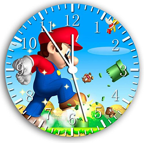 Super Mario Frameless Borderless Wall Clock W21 Nice For Gift or Room Wall Decor
