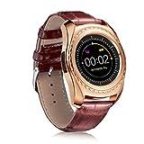 Wenjuan TQ912 Heart Rate Blood Pressure Monitor Slot Wrist Waterproof Bluetooth Smart Watch (Gold)