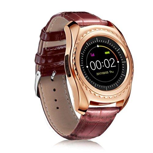 - Wenjuan TQ912 Heart Rate Blood Pressure Monitor Slot Wrist Waterproof Bluetooth Smart Watch (Gold)