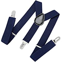 Suspenders for Kids and Baby Adjustable Elastic Solid Color