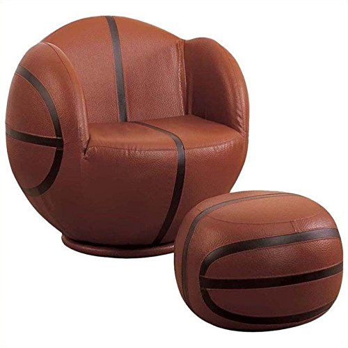 Acme 05527 2-Piece All Star Set Chair and Ottoman, Basketball by ACME