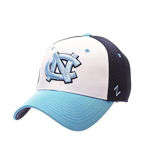 North Carolina Tar Heels Zephyr Kickoff Mesh Back Stretch Fit Hat (Small) -