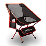 Zerllaug Folding Camping Chair, Lightweight Portable Backpacking Chair for Outdoor, Heavy Duty 270 lb Capacity with Carry Bag, Breathable and Comfortable