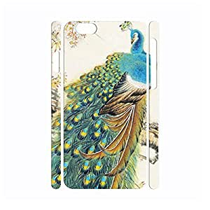 Custom Utility Vintage Peacock Anti Shock Hard Plastic Cover Skin for Iphone 6 Case - 4.7 Inch