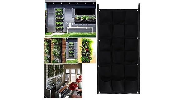 18 bolsillos 50 cm100 cm colgar macetas maceta de pared vertical Garden macetas y macetero macetas maceta para colgar: Amazon.es: Hogar