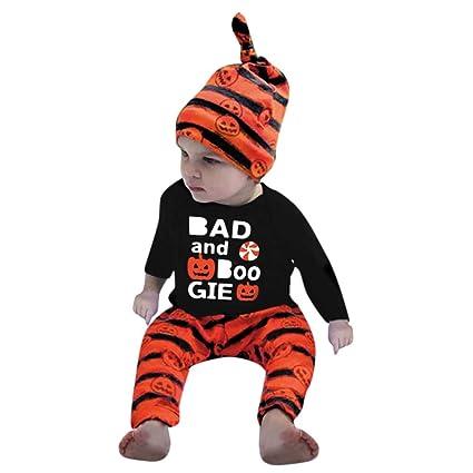 bca2cf28d Amazon.com  Sikye Halloween Newborn Baby Girls Boys Letter Tops and ...