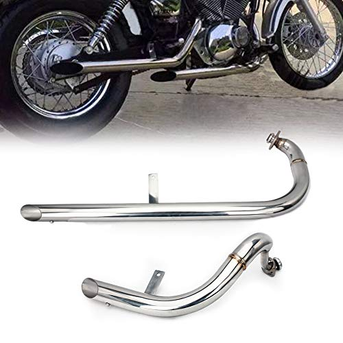 Pipes V-star - TARAZON Muffler Exhaust Systems Pipes Silencer Retro for Yamaha Virago V-Star XV 250 XV250 1988-2013