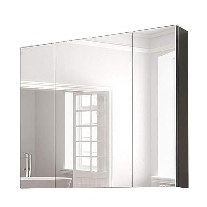 ESPEJOS de baño Armario Armario Acero Inoxidable 80 cm ...