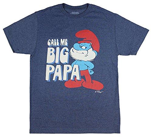 Smurf Mushroom (Freeze The Smurfs Call Me Big Papa Men's T-Shirt (Medium))