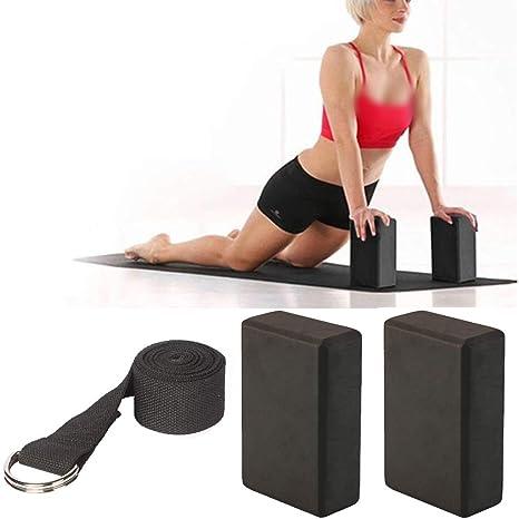 Amycute 3 Piezas Set de Yoga Bloques de Yoga y Correa para ...