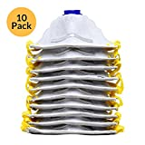 AMSTON 10pk P95 Dust Masks - NIOSH-Certified - Active Charcoal For Fume Protection & Personal Protective Equipment Particulate Respirators for Construction, Home Improvement, DIY Projects