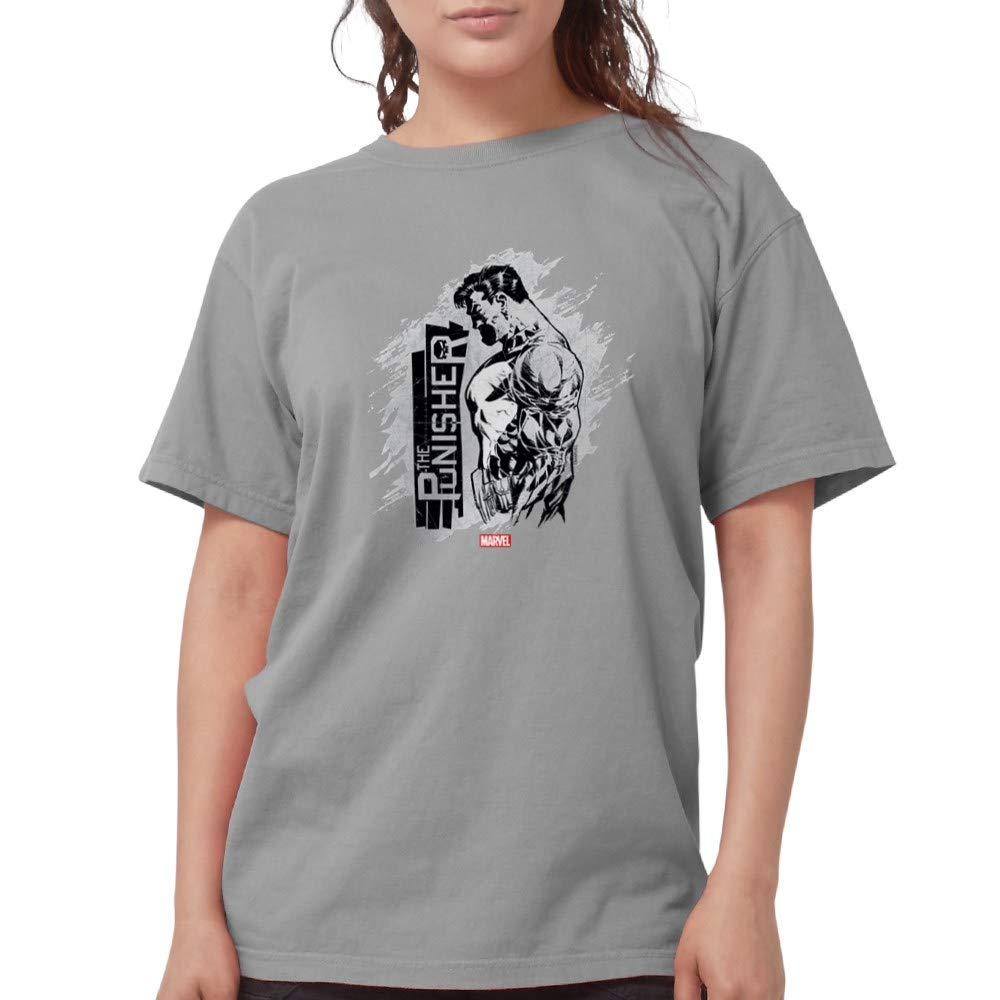 1f9390b4 Amazon.com: CafePress Punisher Side Profile Womens Comfort Colors Shirt:  Clothing