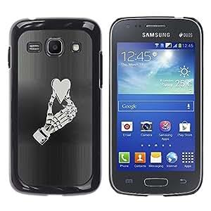 Ihec Tech Corazón Mano esquelética Vida Amor Aplastado / Funda Case back Cover guard / for Samsung Galaxy Ace 3