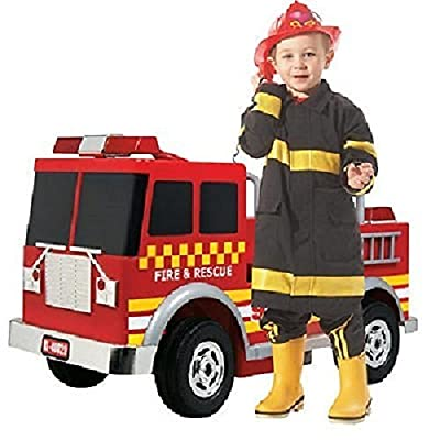 Fire Engine Ride On 12V: Toys & Games