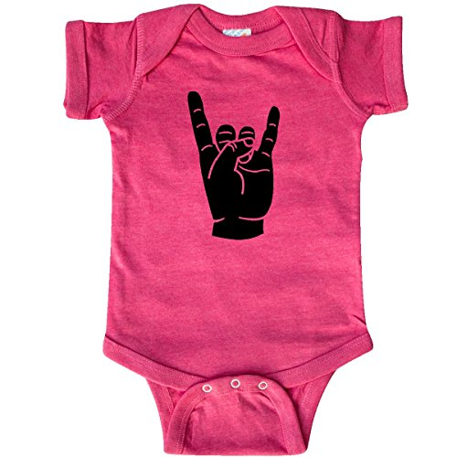inktastic - Rocker Horns Infant Creeper Newborn Retro Heather Pink 18b1d ()