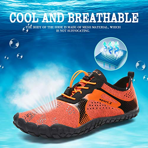 Water Shoes Mens Womens Beach Quick Dry Swim Barefoot Shoes Aqua Sock Outdoor Athletic Pool Shoes for Kayaking, Swimming, Yoga, Surfing, Fishing