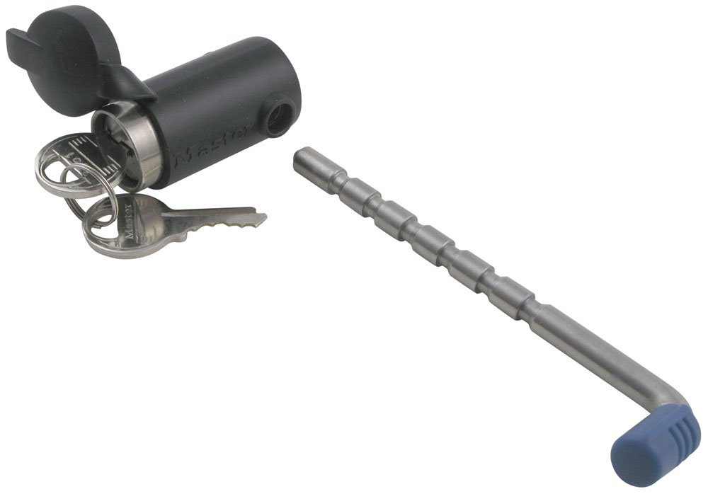 2-Piece Set Master Lock 2848DAT Key Alike Set with Receiver and Coupler Latch Locks