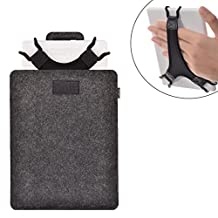 "TFY Protective Pouch Bag + Bonus Hand Strap Holder for 6 inch E-readers and Tablets(Dark Grey)- Fire HD 6"" / Kindle Paperwhite / Kindle Voyage / Kindle 6 inch / Kindle Oasis / Kobo Aura / Kobo Touch 2.0 / NOOK GlowLight Plus / SONY PRS-300 / SONY PRS-350"