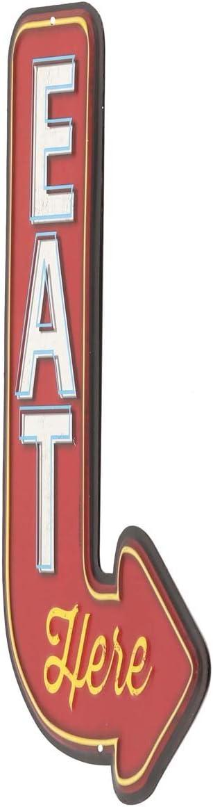 "Shop Rates Open Road Brands Metal Sign 13"" X 9"""