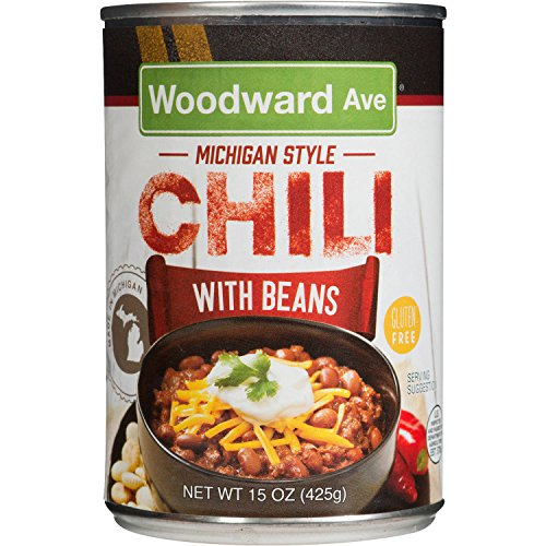 Woodward Ave Michigan Style Chili With Beans, 15 OZ (2PACK) (Best Coney Island In Detroit)