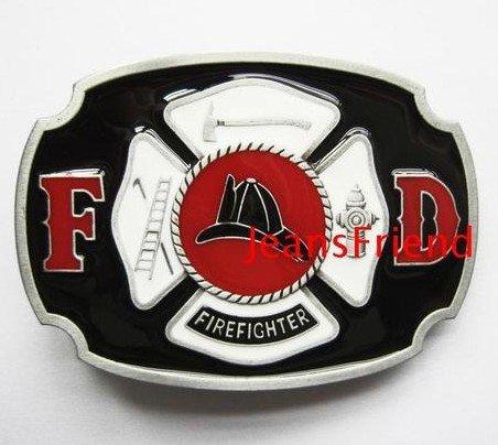 belt buckles men western cowboys cool vintage harley fire department black red