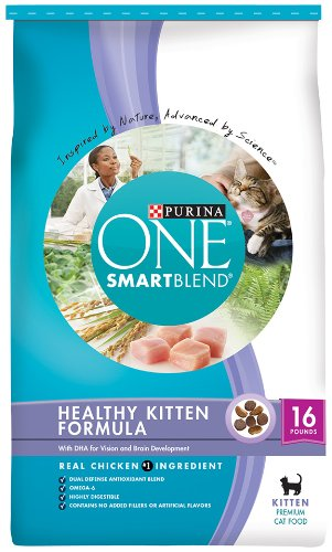 Purina One Cat Healthy Kitten Formula Cat Food, 16-Pound, My Pet Supplies