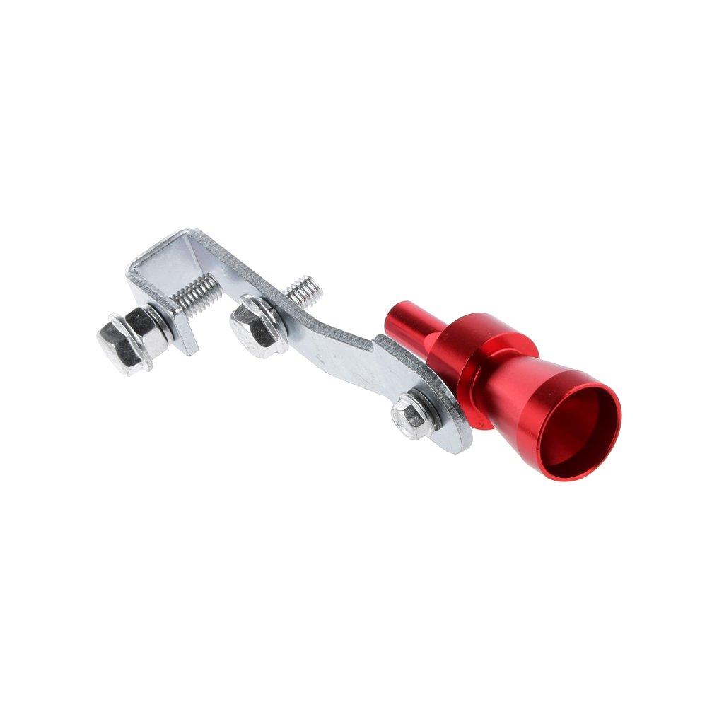 Homyl Silencioso Silenciador Turbo Sound Whistle Simulator Whistler Rojo Talla XL Plata M