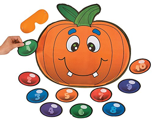 Silly Pin the Nose on the Pumpkin Game. 18″ Pumpkin