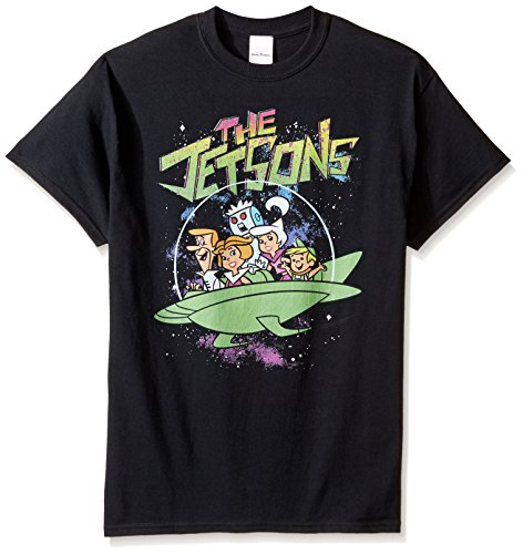 Hanna-Barbera Men's The Jetsons T-Shirt, Black, 3XL (Yogi Black Bear)