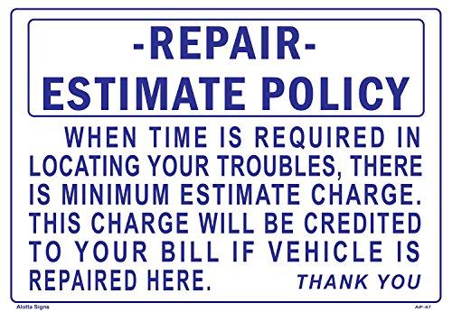 Repair Estimate Policy 14