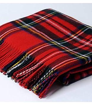 Plaid Écossais Rouge Royal Stewart  Amazon.fr  Cuisine   Maison 7ce5d730c47