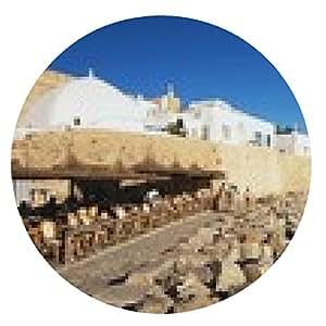 alfombrilla de ratón Vista de la medina de costa, Hammamet - ronda - 20cm