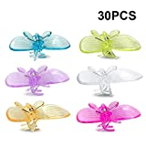 KINGLAKE 30 Pcs Butterfly Orchid Clips,Plant Clips Garden Support Clips Cute Flower Clips (10301)
